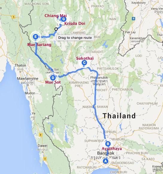 Onderweg naar Chiang Mai