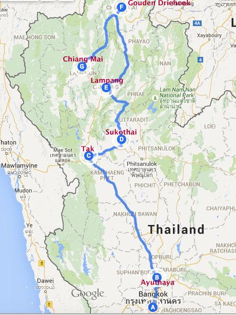 van Bangkok naar de Gouden Driehoek NL 105